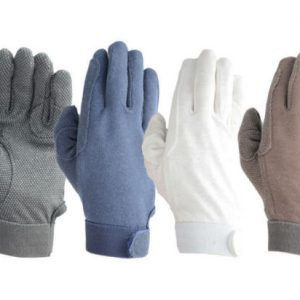 Shires Cotton Pimple Gloves – Adults