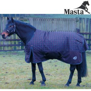 Masta Zing 350 Turnout Rug – Choco/Check