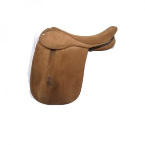Ideal Suede Covered 18 Inch Show Saddle