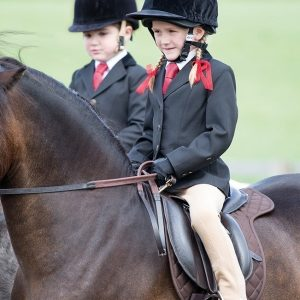 Childrens Shires Aston Show Jacket- Black