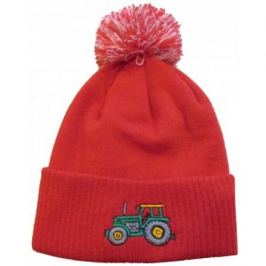 British Country Collection Kids Tractor Hat – Red