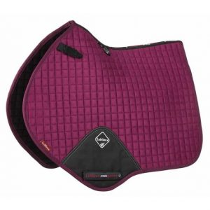 LeMieux ProSport Suede Close Contact Square – Plum