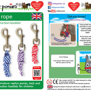 Crafty Ponies Leadrope & Instruction Booklet