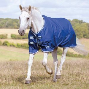 Shires Tempest Original Lite Turnout Rug -Navy/Grey