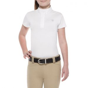 Childrens Ariat Aptos Show Top – White