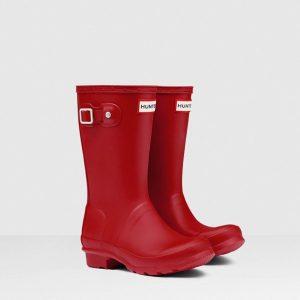 Hunter Kids Wellington Boot – Military Red