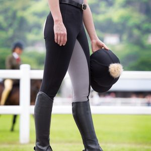Ladies Shires Wessex Two Tone Jodhpurs – Black/Grey