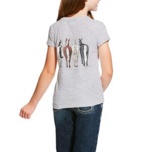 Ariat Girls 360 View Tee – Heather Grey