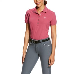 Ariat Ladies Prix Polo – Rose Violet