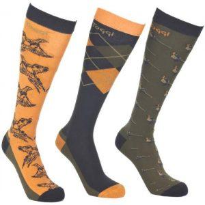 Toggi Godard Men's Three Pack Socks – Orange