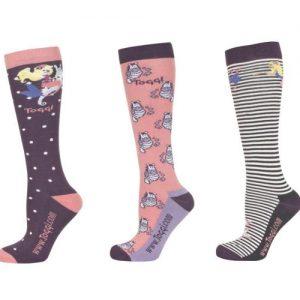 Toggi Liya Ladies Three Pack Socks – Heather