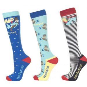 Toggi Liya Ladies Three Pack Socks- Ultra Marine