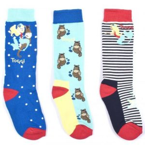 Toggi Matea Children's Three Pack Socks Seahorse Design – Turquoise
