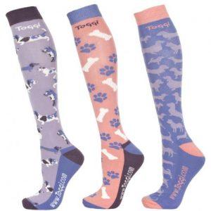 Toggi Tatjana Ladies Three Pack Socks- Lilac