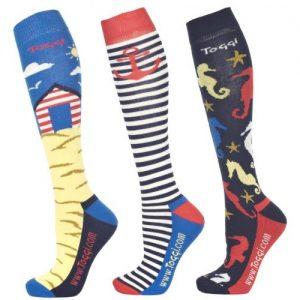Toggi Tiegs Ladies Three Pack Socks – Ultra Marine