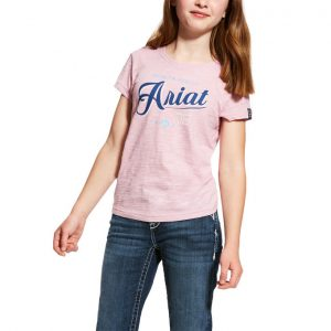 Ariat Girls Logo Tee – Lilac Pearl
