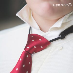 Equetech Junior Elastic Diamond Ready Tied Show Tie