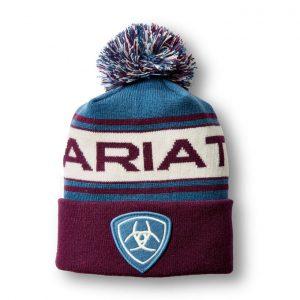 Ariat Team Beanie – Moroccan Blue/Grapevine