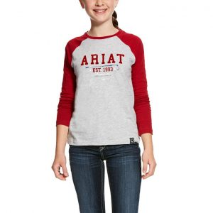 Ariat Kids Logo Flock Long Sleeved Tee – Laylow Red