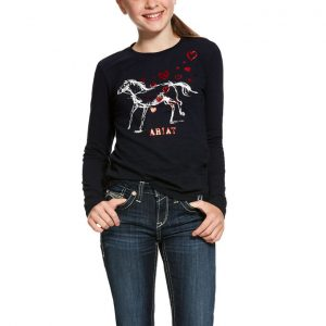 Ariat Kids Pony Love Tee – Navy