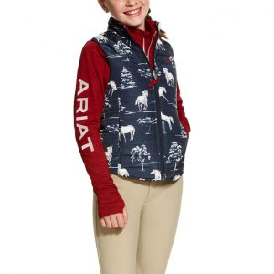 Ariat Girls Emma Reversible Vest – Shadow Pasture Print