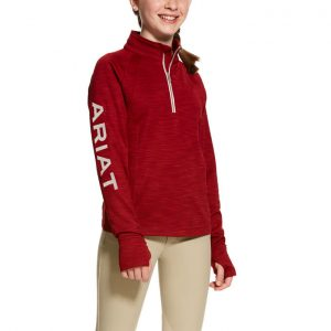 Ariat Girls Tek Team 1/2 Zip – Laylow Red