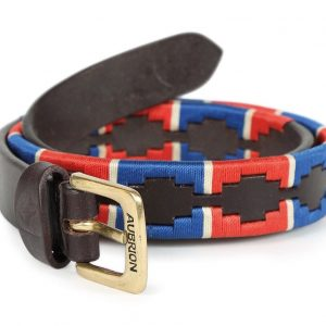 Shires Aubrion Drover Polo Belt – Blue/Red