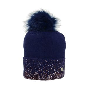 HyFASHION Alaska Diamante Bobble Hat