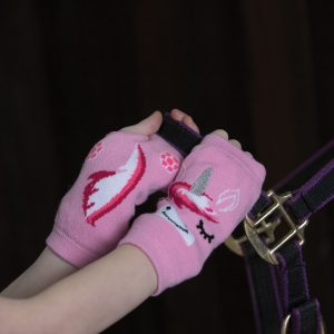 Equetech Unicorn Fingerless Knit Gloves