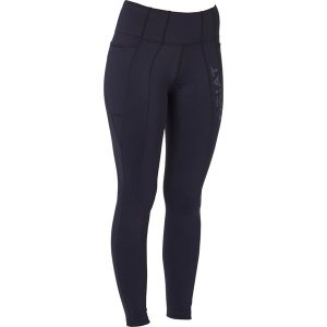 Ladies Ariat Attain Thermal Full Seat Riding Tights – Black