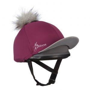 LeMieux Pom Pom Hat Silk – Plum