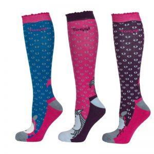 Toggi Blyton Ladies Three Pack Socks – Marine