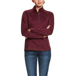 Ariat Ladies Conquest 2.0 1/2 Zip Sweatshirt – Grapewine