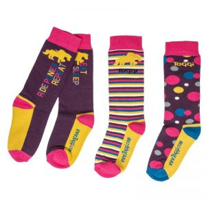 Toggi Shanna Kids Three Pack of Socks – Slogan Design