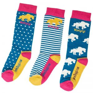Toggi Tama Kids Three Pack of Socks – Horse Design
