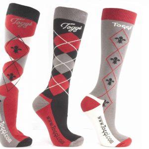 Toggi Chestermere Ladies Three Pack Socks – Black