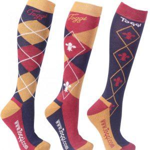 Toggi Chestermere Ladies Three Pack Socks – Navy