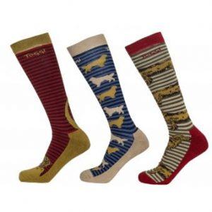 Toggi Stanley Mens Three Pack Socks – Red