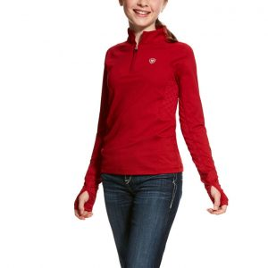 Ariat Kids Lowell 2.0 1/4 Zip Baselayer – LayLow Red