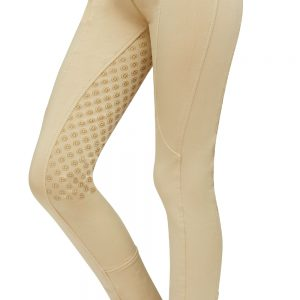Childrens Dublin Performance Cool-It Gel Riding Tights – Beige