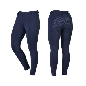 Childrens Dublin Performance Cool-It Gel Riding Tights – Navy