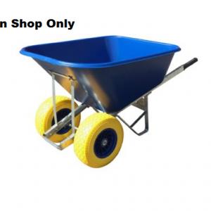 200 Litre Blue Wheelbarrow Twin Fatboy