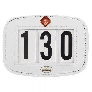LeMieux Saddle Number Holder Square White Plain