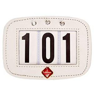 LeMieux Saddle Number Holder Square White Diamante