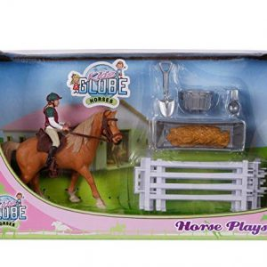 Kids Globe Horse Set With Rider & Accessories