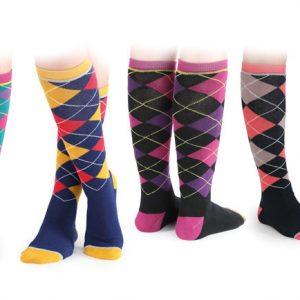 Shires Ladies Argyle Socks