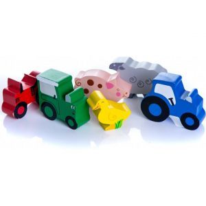 Tractor Ted Six Wooden Farm Toys