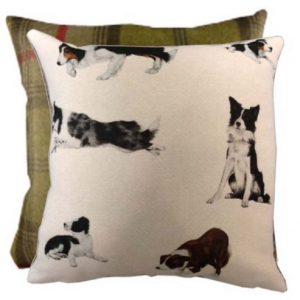 Gray Border Collie Cushion