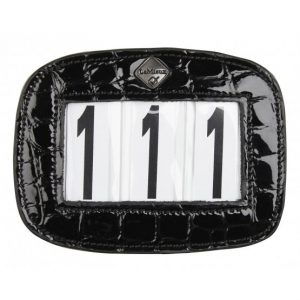 LeMieux Saddle Pad Number Holder Black Croc