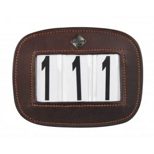 LeMieux Saddle Pad Number Holder Brown